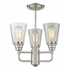 3 Light Semi-Flush Mount Brushed Nickel