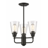 3 Light Semi-Flush Mount Olde Bronze