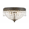 Z-Lite 3 Light Flush Mount Golden Bronze