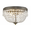 4 Light Flush Mount Golden Bronze