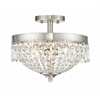 Z-Lite 3 Light Semi Flush Mount Brushed Nickel