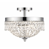 Z-Lite 3 Light Semi Flush Mount Chrome