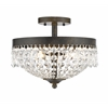 3 Light Semi Flush Mount Golden Bronze