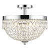 4 Light Semi Flush Mount Chrome