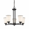 5 Light Chandelier Bronze