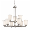 Z-Lite 9 Light Chandelier Brushed Nickel