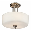Z-Lite 3 Light Semi-Flush Mount Brushed Nickel