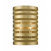 Z-Lite 2 Light Wall Sconce Satin Gold