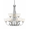 Z-Lite 9 Light Chandelier Chrome
