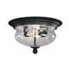 Z-Lite Outdoor Flush Mount Light Black