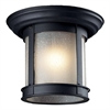 Z-Lite Outdoor Flush Mount Light Black