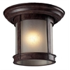 Z-Lite Outdoor Flush Mount Light Weathered Bronze