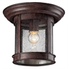 Outdoor Flush Mount Light Weathered Bronze