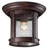 Z-Lite Outdoor Flush Mount Light Weathered Bronze