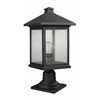 1 Light Outdoor Pier Mount Light Oil Rubbed Bronze