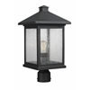 Z-Lite 1 Light Post Mount Light Oil Rubbed Bronze