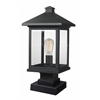 1 Light Outdoor Pier Mount Light Black