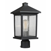 1 Light Post Mount Light Oil Rubbed Bronze