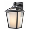 1 Light Outdoor Wall Light Black