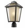 1 Light Outdoor Post Mount Light Oil Rubbed Bronze