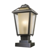 Z-Lite 1 Light Outdoor Pier Mount Light Oil Rubbed Bronze