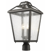 Z-Lite 3 Light Outdoor Post Light Black