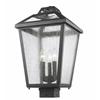 Z-Lite 3 Light Outdoor Post Mount Light Black