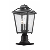 Z-Lite 3 Light Outdoor Pier Mount Light Black