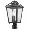 Z-Lite 3 Light Outdoor Post Mount Light Black