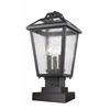3 Light Outdoor Pier Mount Light Black