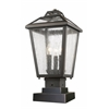 3 Light Outdoor Pier Mount Light Oil Rubbed Bronze