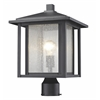 Z-Lite 1 Light Outdoor Black