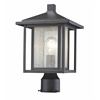 Z-Lite 1 Light Outdoor black