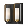 2 Light Wall Sconce Bronze Gold