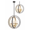 Z-Lite 6 Light Pendant Bronze Gold
