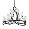 16 Light Chandelier Café Bronze