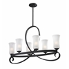 6 Light Chandelier Café Bronze