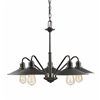 5 Light Chandelier Olde Bronze