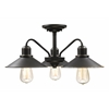 Z-Lite 3 Light Semi-Flush Mount Olde Bronze