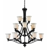 15 Light Chandelier Bronze