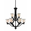 9 Light Chandelier Bronze