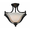 2 Light Semi-Flush Mount Bronze