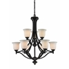 Z-Lite 9 Light Chandelier Matte Black