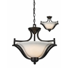 Z-Lite 3 Light Pendant Matte Black