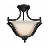 2 Light Semi-Flush Mount Matte Black