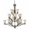 15 Light Chandelier Brushed Nickel
