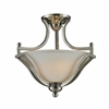 2 Light Semi-Flush Mount Brushed Nickel