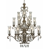 18 Light Chandelier Golden Bronze