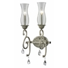 2 Light Wall Sconce Antique Silver