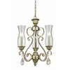 3 Light Chandelier Antique Silver